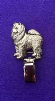 Dog Show Breed Ring Number Clip - Chow Chow - FULL BODY Silver or Gold Style